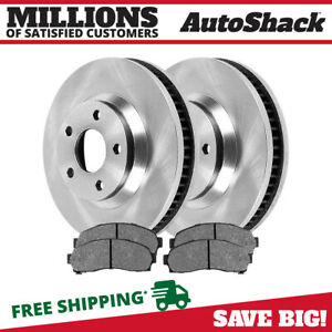 Front 2 Brake Rotors 4 Ceramic Brake Pad Fits 2002 2005 2006 2007 Saturn Vue