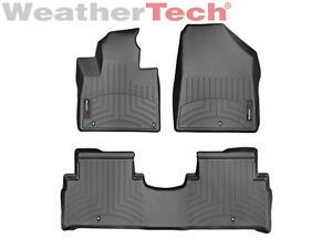 Weathertech Floor Mats Floorliner For Kia Sorento 2016 2019 1st 2nd Row Black