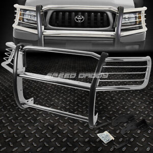 For 98 04 Toyota Tacoma Pickup Chrome Stainless Steel Front Bumper Grill Guard