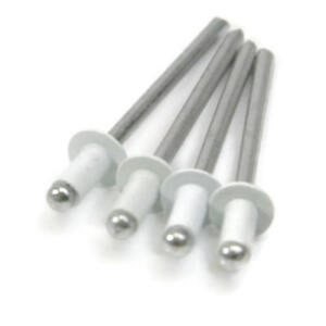 White All Aluminum Pop Rivets 4 4 1 8 X 400 0 188 0 250 Grip Qty 1000