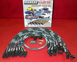 Moroso Sbc Race Plug Wires Under Header X Long Sleeved 9767m
