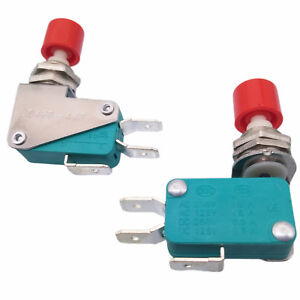 Us Stock 2pcs Spdt No Nc Momentary Red Cap Push Button Micro Switch Ds438