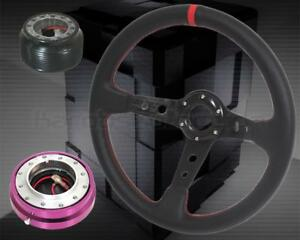 02 06 Acura Rsx Dc5 Type s Steering Wheel Hub Purple Quick Release Combo 350mm