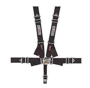 G Force 6000bk Pro Series Shoulder Harness Racing 5 Pt Seat Belts Sfi 16 1 Black