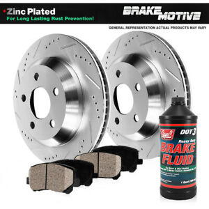 Rear Drilled Slotted Brake Rotors And Ceramic Pads Kit For Infiniti Nissan
