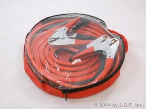 25ft 2 Ga New Booster Jumper Cables Auto Car Jumping Cables Heavy Duty Gauge