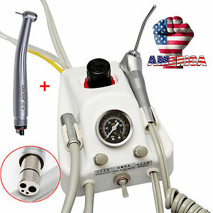 Dental Portable Turbine Unit Fit Air Compressor With High Speed Handpiece 4h usa