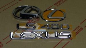 95 00 Oem New Lexus Ls400 Chrome Complete Emblem Kit 1995 1996 1997 1998 1999 00