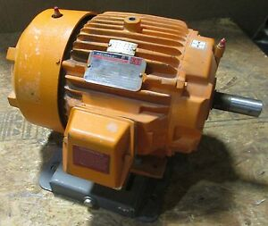 Reliance Duty Master 7 5 Hp A c Motor 230 460v 60hz 3505 Rpm 20 4 10 2 Amps