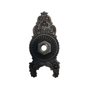 Victorian Door Back Plate Sunburst Hardware Aged Bronze