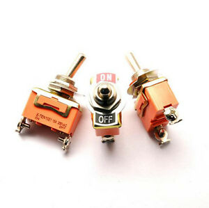Us Stock Spst On off 2 Position 4 Pin Power Control Toggle Switch E ten1021
