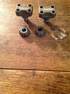Jeep Cj Mb M38 Jeepster Willys Front Axle Model 25 27 King Pin Bearing Caps Oem
