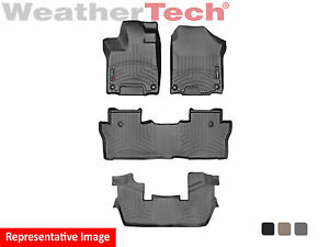 Weathertech Floor Mats Floorliner For Honda Pilot 7 Pass 16 19 1st 2nd 3rd Row