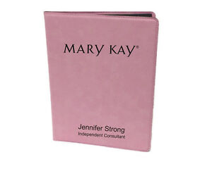 Mary Kay Personalized Pink Note Pad Holder Engraved Portfolio