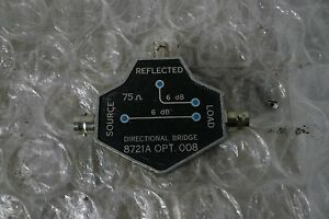 Hp Agilent 8721a Opt 008 Directional Bridge 100 Khz To 110 Mhz 50 Ohm