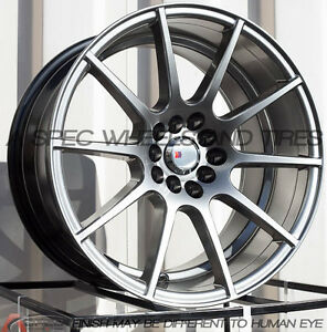 18x9 5 20 F1r F17 5x114 3 Hyper Black Wheel Fit Mitsubishi Evolution Evo 8 9 X