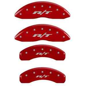 Mgp 55001srt1rd Set Of 4 Red Caliper Covers W r t Text For Ram 1500