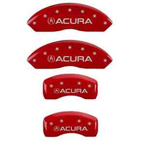 Mgp 39001sacurd Set Of 4 Red Caliper Covers W Acura Text For Acura Tl