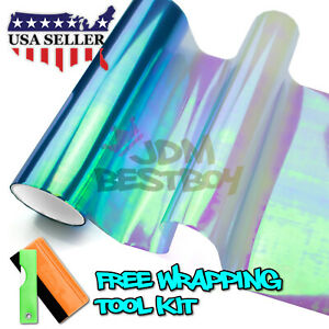 16 x12 Extra Wide Chameleon Neo Chrome Light Blue Headlight Taillight Tint