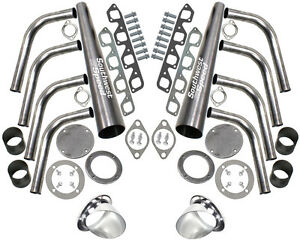 New Sbf Lake Style Header Kit 351 Cleveland 4 Barrel 4v 351c 4 Ceramic Turnouts