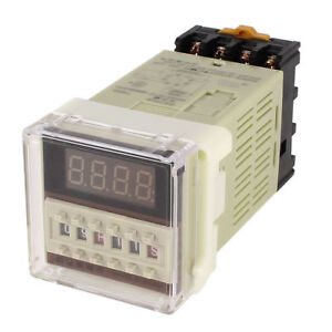 Us Stock Dc 12v Digital Precision Programmable Time Delay Relay Dh48s s Base