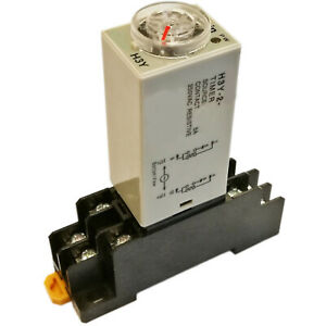 Us Stock Ac 110v H3y 2 Delay Timer Time Relay 0 60m Minute Base Socket