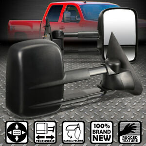 For 97 04 F150 99 F250 Light Duty Dual Arm Power Rear View Towing Mirror Pair
