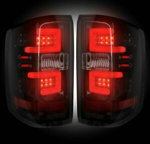 Recon 264238bk Smoked Lens Oled Tail Lights For Chevy Gmc Silverado Sierra