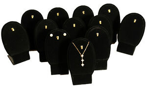12 Black Velvet Pendant Earring Jewelry Display 3 3 4