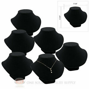 6 5 3 4 Pendant Necklace Black Velvet Neck Form Jewelry Presentation Displays
