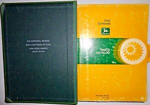John Deere 7700 Combine Platforms corn Heads Parts Catalogs Manuals In Binder