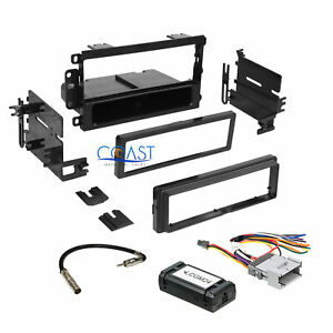 Car Radio Stereo Single Din Dash Kit Interface Harness For 2000 up Gm Chevrolet