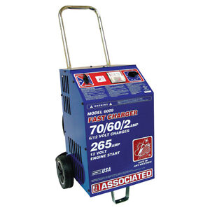 Associated Battery Charger 6 12 Volt 70 60 Amp Charge 265 Amp Crank Assist