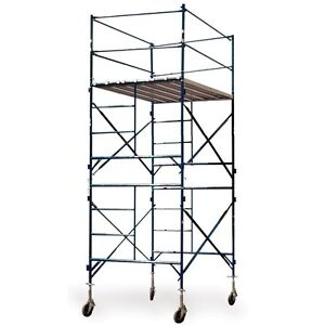 Buffalo Tools Towerout Two Story Rolling Scaffold Tower