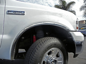 Tfp 3112 Stainless Steel Fender Trim Molding For 99 07 Ford F250 F350 Super Duty