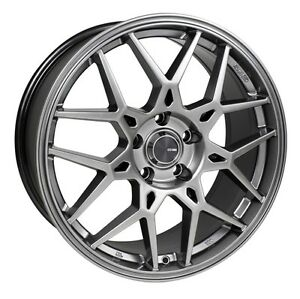 18x8 Enkei Pdc 5x108 45 Hyper Grey Rims Fits Ford Focus 2000 2007