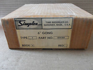 New In Box Simplex 624 502 Beige 6 Gong Fire Alarm