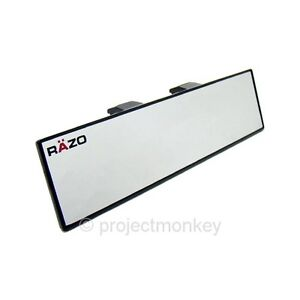 Razo Rg20 270mm Flat Wide Rear View Mirror Universal Fitment Clip On Carmate Jdm
