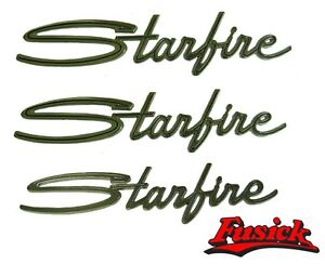 1962 Oldsmobile Starfire Fender Trunk Emblem Script Set 62 Olds