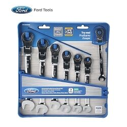 Ford Tools Fht0105mm 7 Piece Flexible Geared Wrench Set Metric