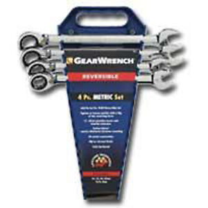 Gearwrench 9601n 4 Piece Reversible Non Capstop Set Mm