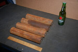 Lot Of 4 Steel Round Bars For Blacksmith Anvil 45 Lbs Inv 24460