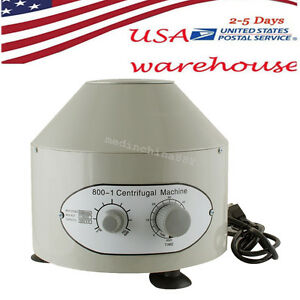 110v Electric Centrifuge Machine 4000rpm Lab Medical Practice 20 Ml X6 Usa Fast