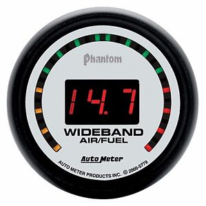 Autometer Phantom 2 street Wideband O2 Air Fuel Ratio Gauge 2 1 16 52mm