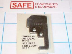 Ideal Stripmaster Blade L 5211 16 26awg Wire Fits 45 171 45 181 45 207 R32 1