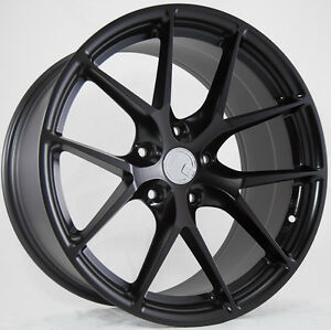 19x8 5 15 Aodhan Ls007 5x114 3 Black Wheels Fit Acura Tl Type s 24s0x S15 S14
