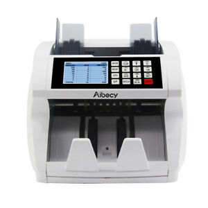 Money Bill Currency Counter Uv Mg Ir Detector Mix Value Mix Cash Counting Lcd