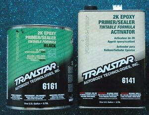 Transtar 2k Epoxy Black Primer Sealer And Activator 6161 6141 Gallon Kit