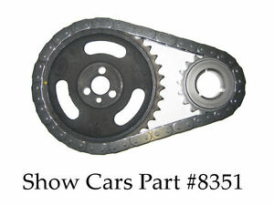 58 65 348 409 Chevy Impala Ss Cloyes Roller Timing Gear Chain Set Original Type