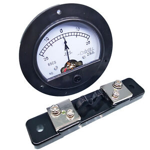 Us Stock Dc 20a 20a Analog Amp Current Needle Panel Meter Ammeter Shunt